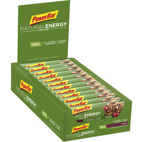 PowerBar Natural Energy Fruit Bar Caja 24x40g, Cranberry